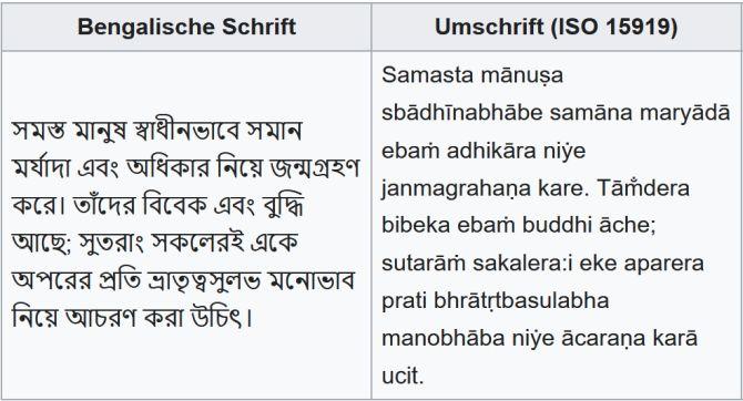 Bengalische Schrift