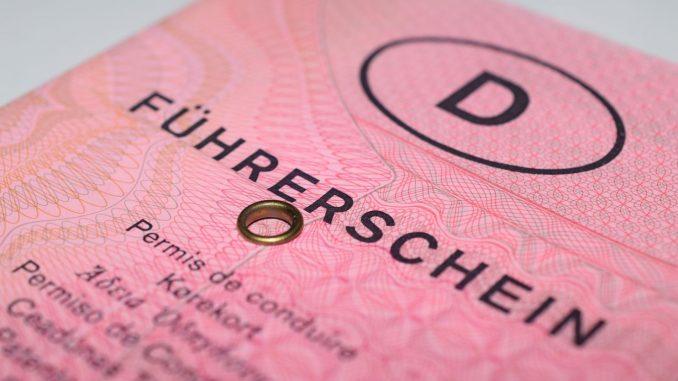 Rosa Führerschein