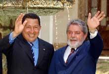 Hugo Chávez und Lula