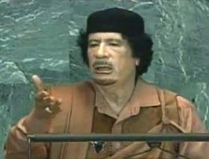 Gaddafi vor UNO 2009