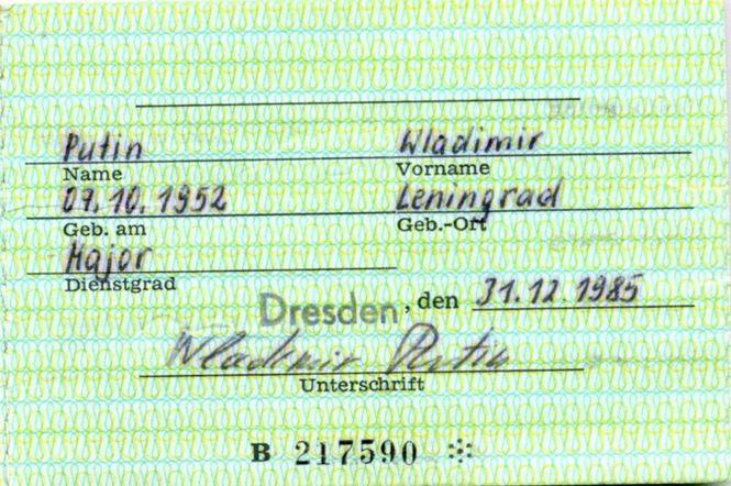 Putin, Stasi-Ausweis, Seite 2