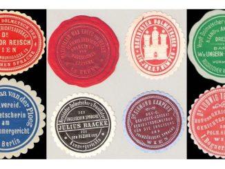 8 Siegelmarken von Dolmetschern