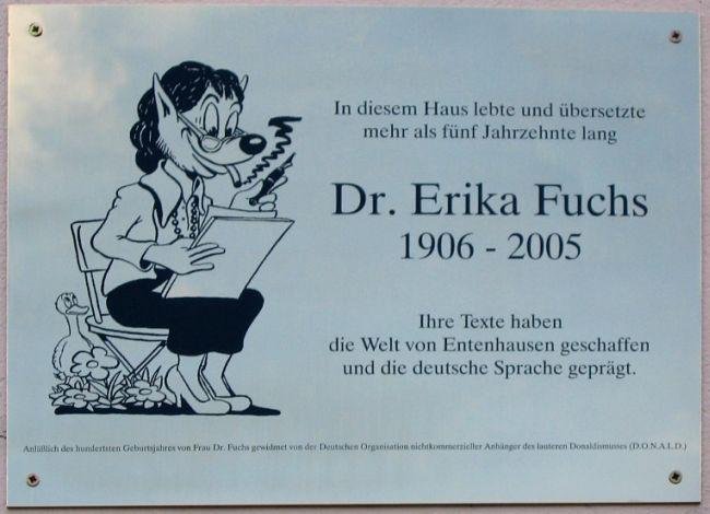 Erika-Fuchs-Gedenkplakette