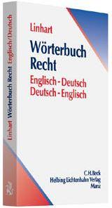Linhart: Wörterbuch Recht Englisch/Deutsch