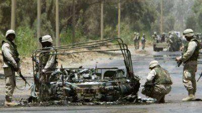 Anschlag auf Militärfahrzeug
