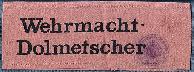 Armbinde Wehrmacht-Dolmetscher