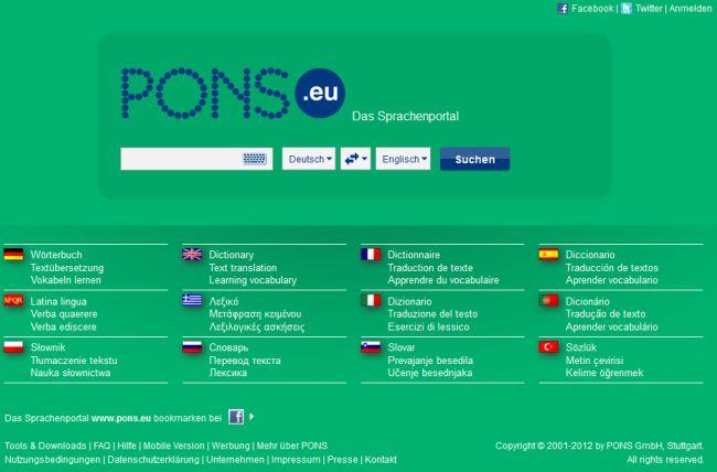 PONS-Website