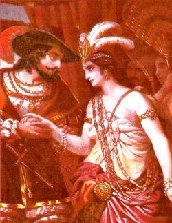 Cortés und Malinche