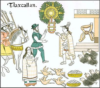 Bilderhandschrift mit Malinche