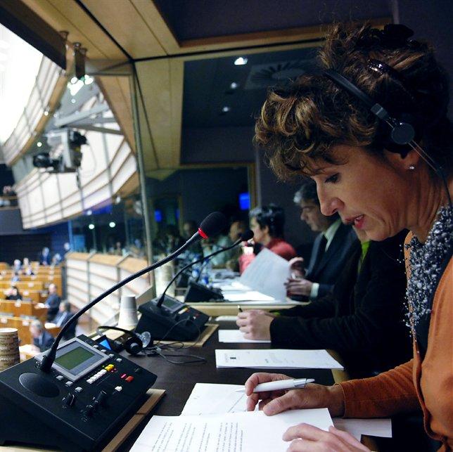 Dolmetscher im EU-Parlament