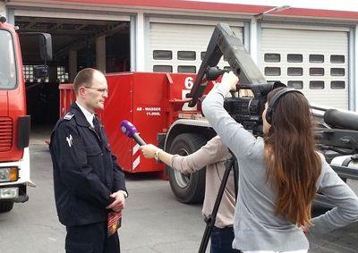 Sat.1 interviewt Pressesprecher Peter Krämer