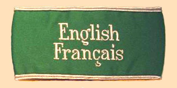 Armbinde Dolmetscher Olympische Spiele 1936 English Francais