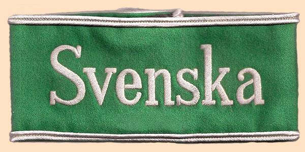 Armbinde Dolmetscher Olympische Spiele 1936 Schwedisch
