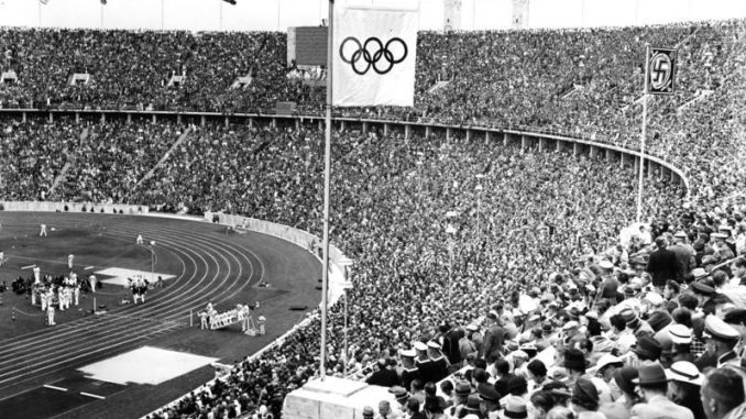 Im Olympiastadion Berlin 1936