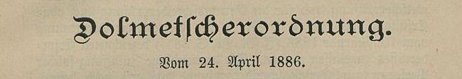Dolmetscherordnung Preußen 1886