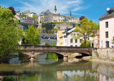 Blick auf die Stadt Luxemburg.