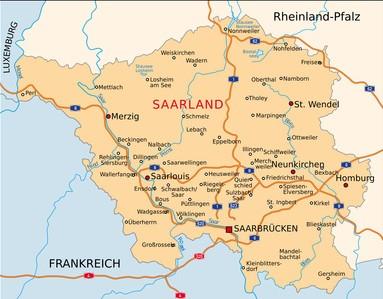 Saarland-Karte