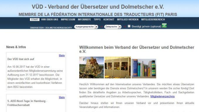VÜD-Website