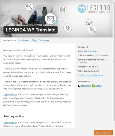 LEGINDA WP Translate