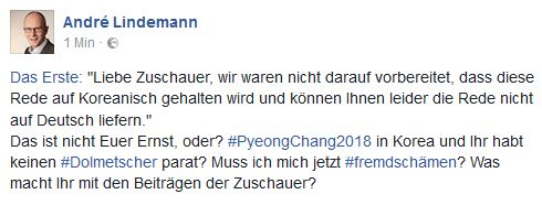 Lindemann auf Facebook