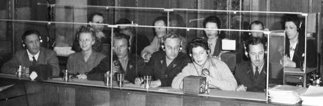 Dolmetschkabinen Nürnberger Prozesse