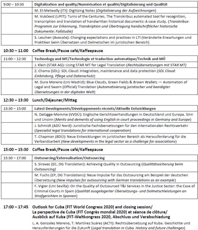 FIT-ILF-Programm Samstag