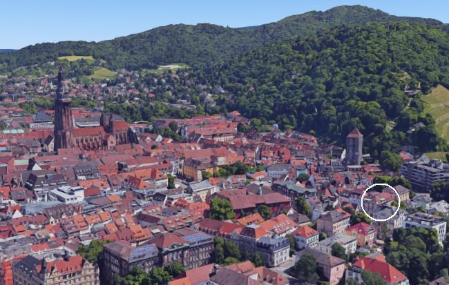 Luftbild Freiburger Altstadt