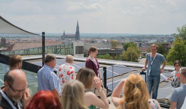 Blick vom Dach aufs Ulmer Münster