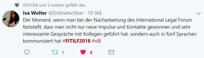 Tweet von Iva Wolter