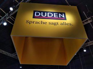 Duden-Stand auf Frankfurter Buchmesse