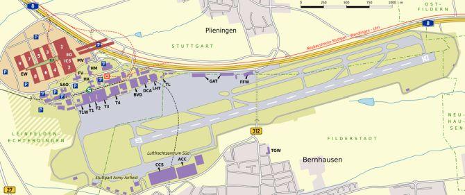 Karte ICS, Messegelände, Flughafen