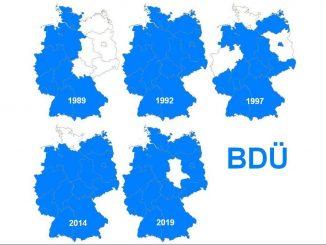 BDÜ-Landkarte 1989-2019