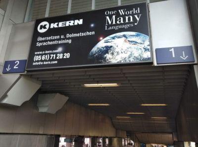 KERN-Außenwerbung Bahnhof Kassel-Wilhelmshöhe