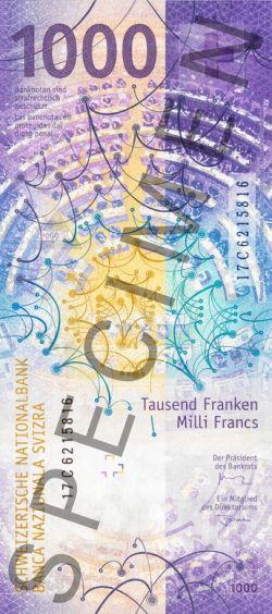 Rückseite 100-Franken-Schein