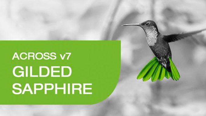 Across v7 Gilded Sapphire