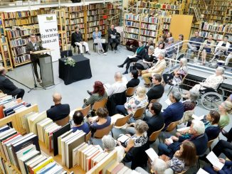 Preisverleihung in Bibliothek des Literaturhauses Wien