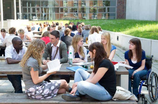 Studenten an Uni Potsdam