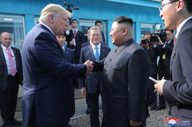 Trump, Dolmetscher, Moon, Kim, Dolmetscher