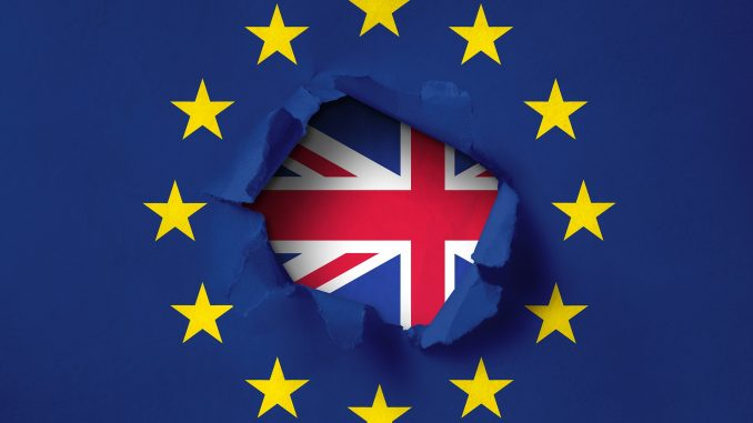 Flaggen EU, Großbritannien