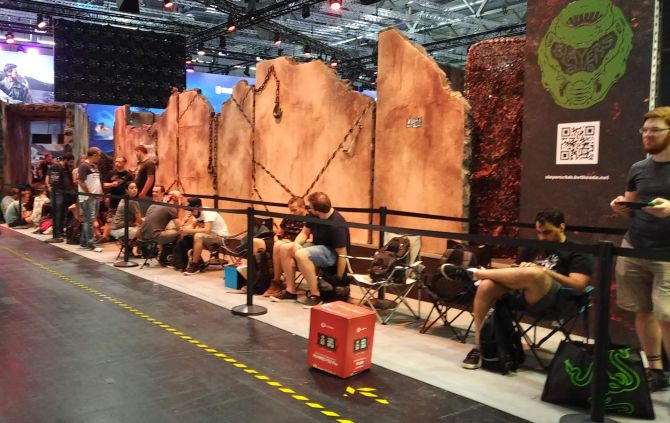 Gamescom, Doom-Warteschlange