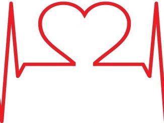 Herzschlagkurve mit Herz