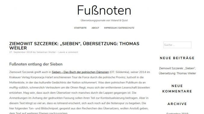 Startseite von fussnoten.eu