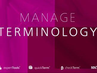 Manage Terminology