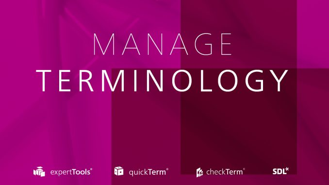 Manage Terminology