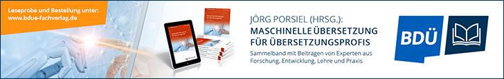 BDÜ-Fachverlag: Maschinelle Übersetzung