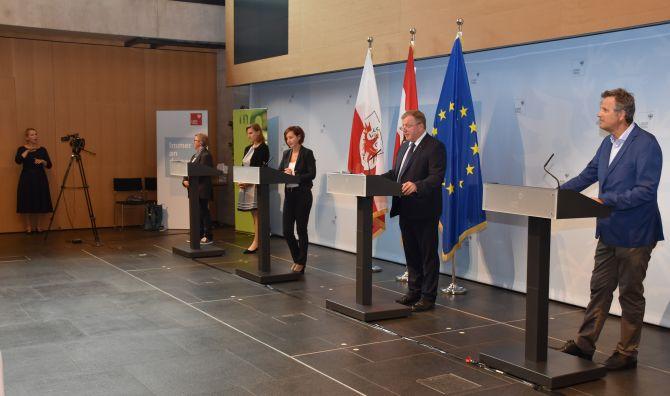 Pressekonferenz Gebärdensprachdolmetschen FH Innsbruck