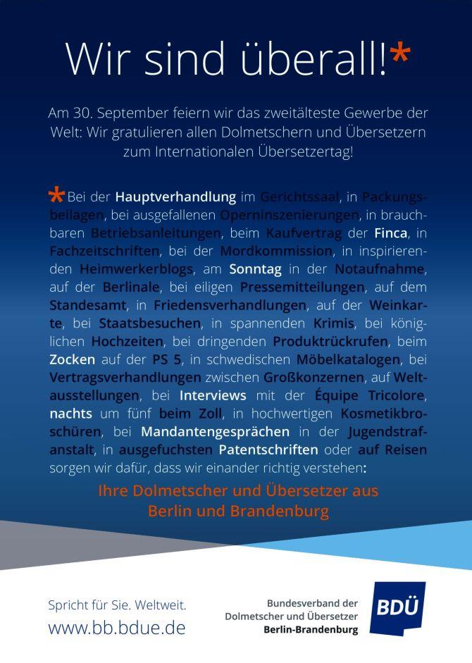 BDÜ-Plakat