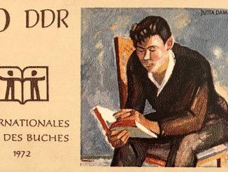 """Briefmarke """"Lesender junger Arbeiter"""""""