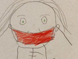 Kinderzeichnung Maske