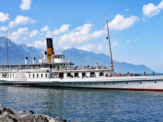 Schaufelraddampfer Genfer See